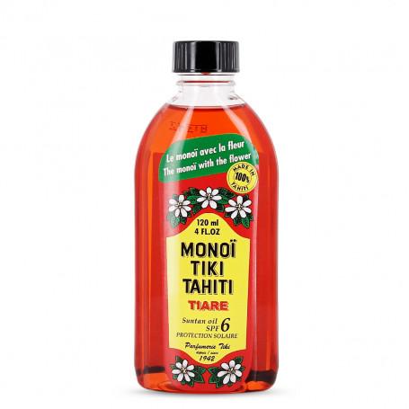 Monoï solaire Tiki Tahiti Tiaré 120ml spf 6