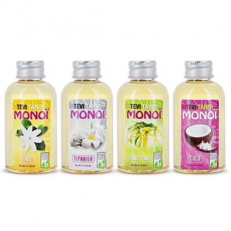 Pack monoi Tevi Tahiti 4 parfums de 60ml